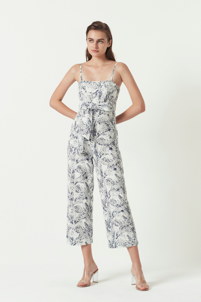 PRINTED EMBROIDERY JUMPSUIT