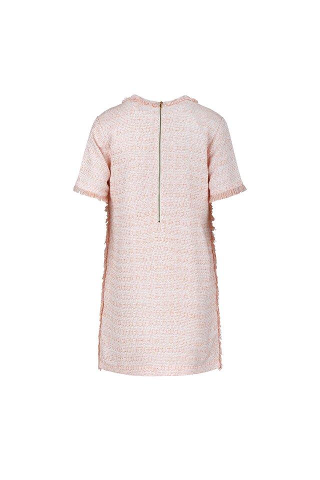 SHORT SLEEVE TWEED DRESS
