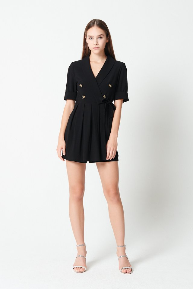 DOUBLE BREASTED ROMPER