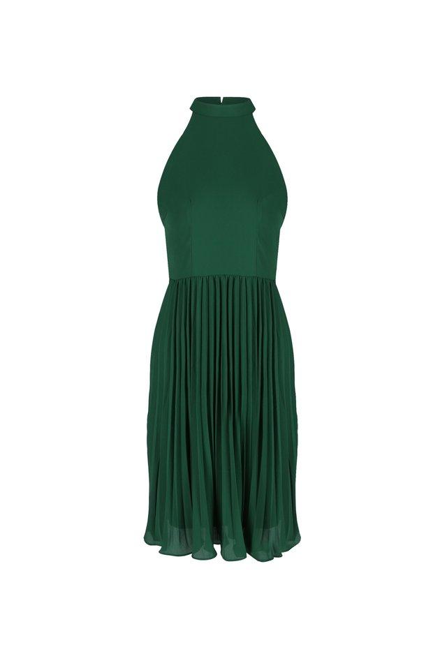 PLEATED CUT-IN DRESS