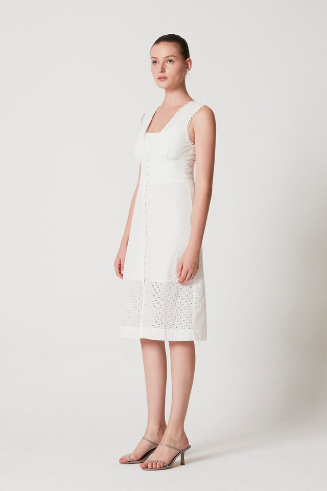 EMBROIDERY DRESS WITH TUBE