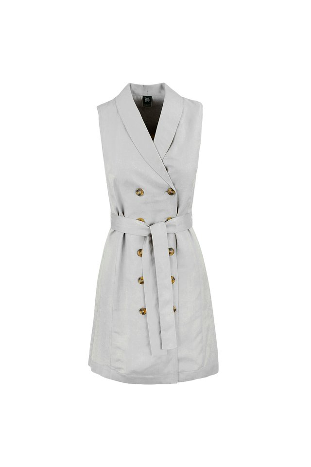 BELTED DRESS WITH INNER PIECE