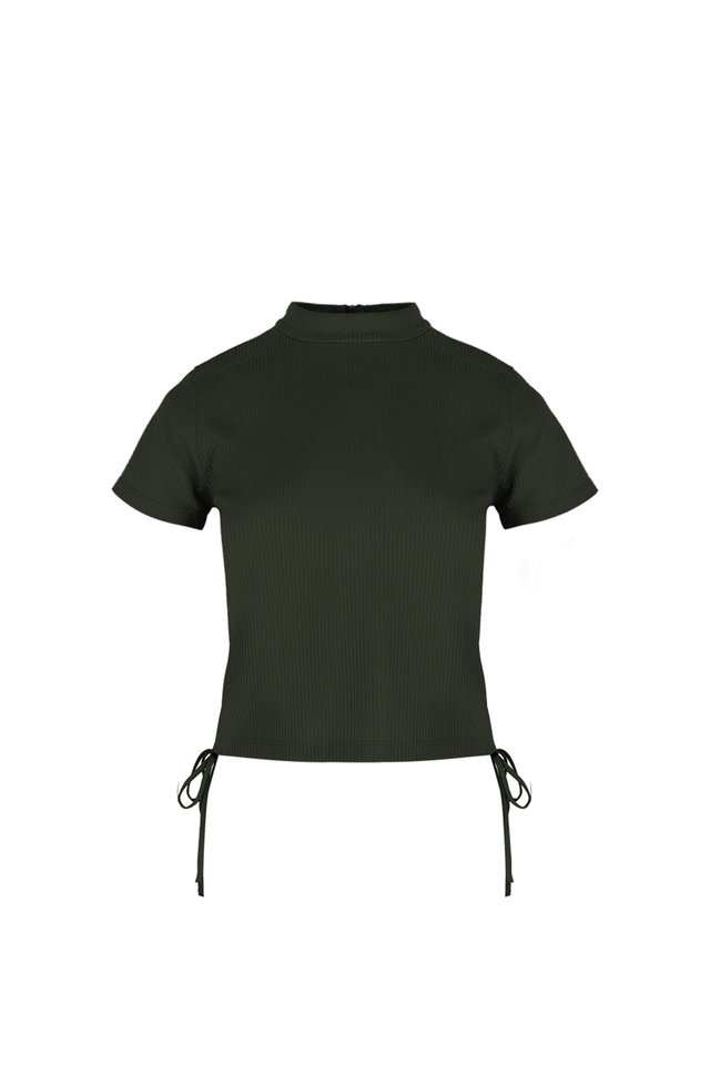 SIDE RUCHED CROP TOP