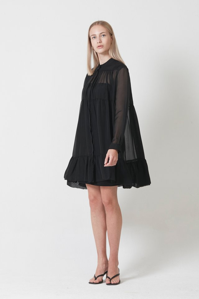LONG SLEEVE DRESS WITH INNER PIECE