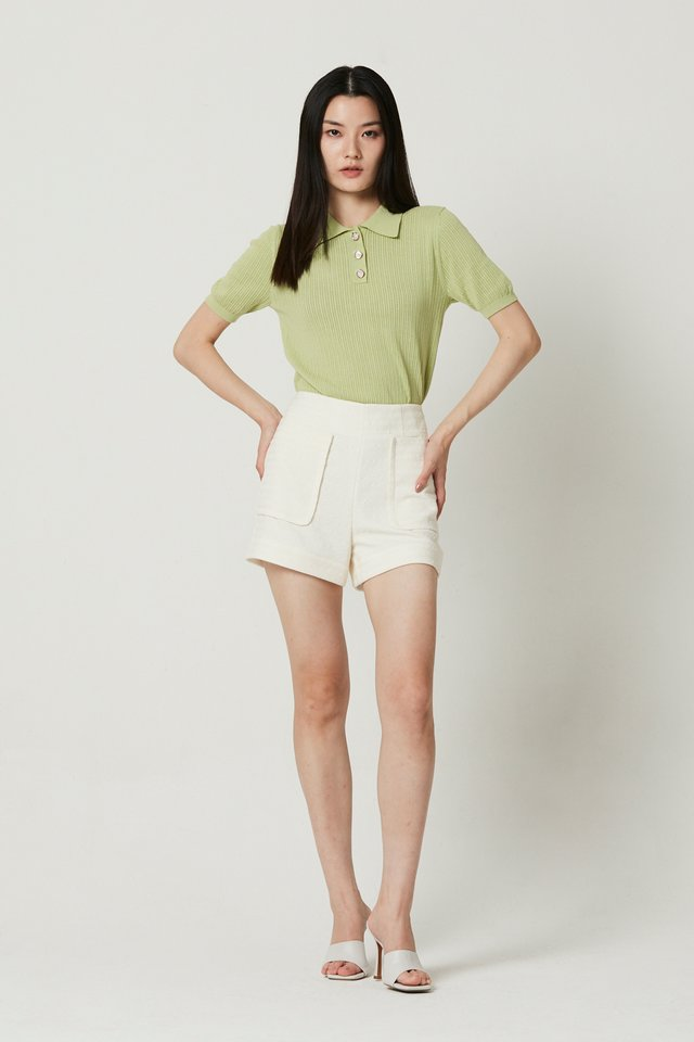 POINTELLE KNIT TOP