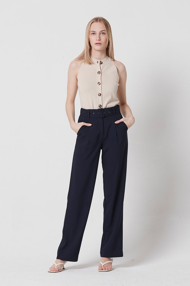 BELTED PANTS