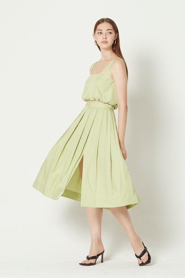 [PERFECT PAIRING] BUBBLE TOP & SKIRT SET