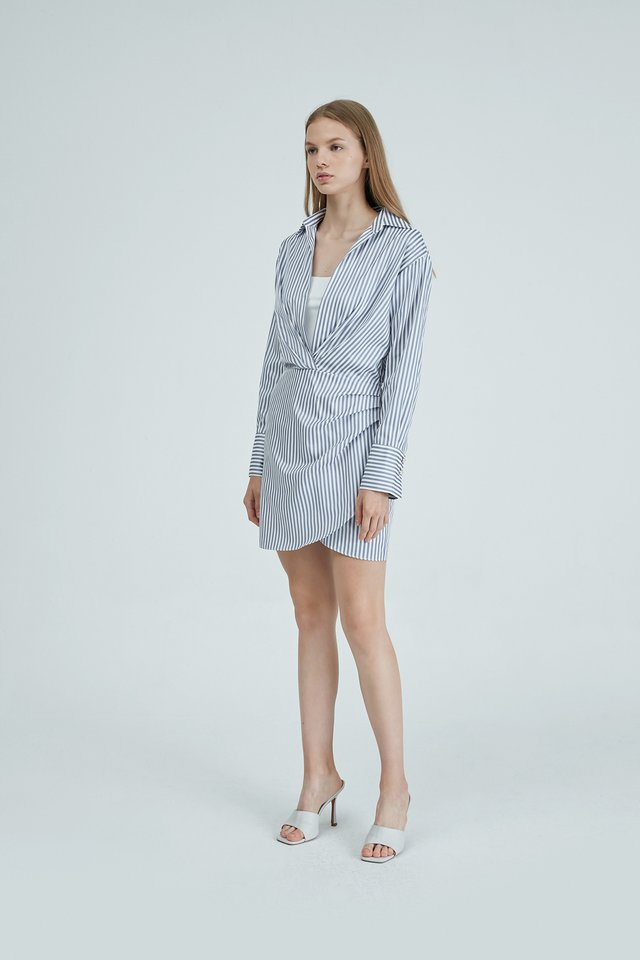 [PRE-ORDER] SHIRT DRESS WITH INNER TOP